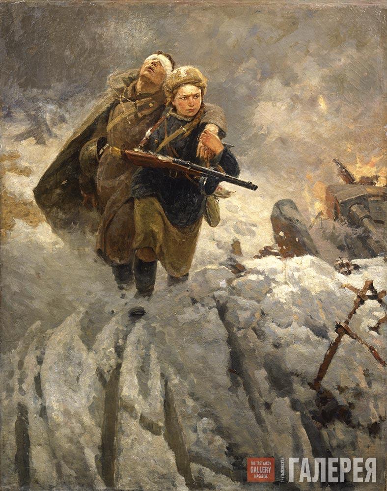 Рыжая медсестричка по своему подлечила солдата 10 фотография