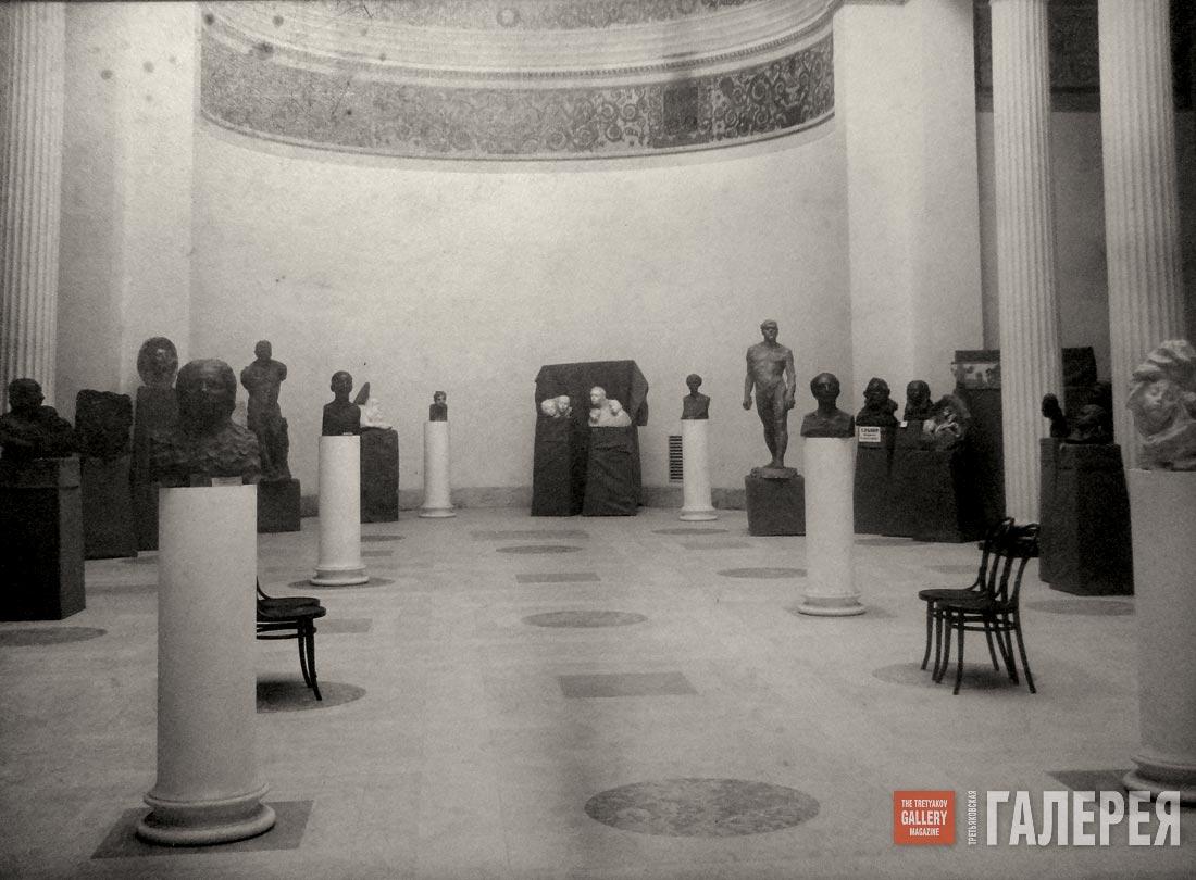 Golubkina's exhibition at the Museum of Fine Arts in 1914-1915