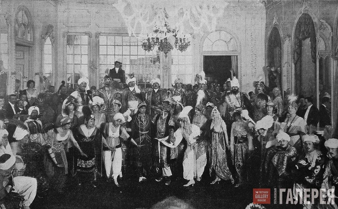 Бал у графини М.Э. Клейнмихель.  Фото. 1914