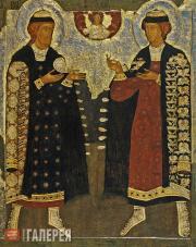 The Holy Princes Boris and Gleb. 17th century (?)