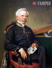 Schwede Fyodor. Portrait of Fyodor Iordan. 1864