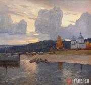 Germashev Mikhail. Evening on the Volga. 1912
