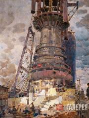 Kotov Pyotr. Blast Furnace №1 at Kuznetskstroi