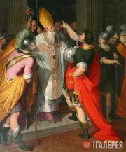 Camillo PROCACCINI. St. Ambrose Stopping Theodosius