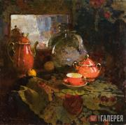 Kotov Pyotr. Still-life with a Mirror (Tea Set). 1944