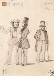 Sternberg Vasily. The Painters Login Frikke, Ivan Aivazovsky and Alexander Ivano