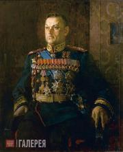 Kotov Pyotr. Portrait of Konstantin Rokossovsky. 1946