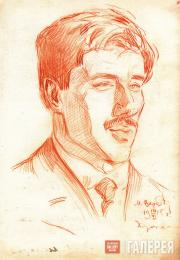 Werboff Michael. Portrait of Kornei Chukovsky. 1915