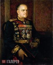 Kotov Pyotr. Portrait of Georgy Zhukov. 1945