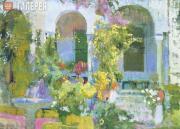 Sorolla Joaquin. Garden at Sorolla's Mansion. 1920