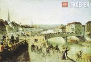 Chernetsov Grigory. Ferdinand Bridge in Vienna. 1840
