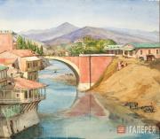 Yekaterina Lanceray (née Benois). Bridge in Tiflis. 1874
