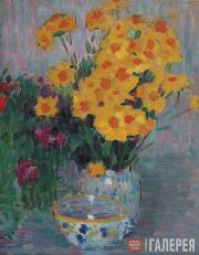 Jawlensky Alexei. Still-Life with Yellow Flowers. 1900s