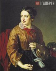 Tropinin Vasily. Sewing Insertions. 1830s