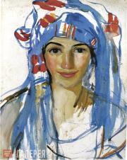 Serebryakova Zinaida. Self-portrait in a Scarf. 1911
