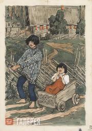 "Polenova Yelena. ""The Fool and the Foolish Girl"", rhyme, 1890s"