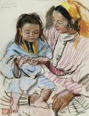 Serebryakova Zinaida. Mother with Child. 1928
