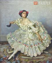"Wilfrid Gabriel de Glehn. Tamara Karsavina as Columbine in the ballet ""Carnaval"""