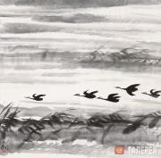 Lin Fengmian. Ducks on the Autumn Lake. 1960