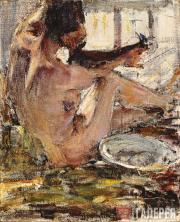 Fechin Nikolai. Nude. A sketch. 1914