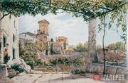 Catel Franz. Villa Malta in Rome. c. 1840
