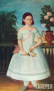 П.КОЛЕНДАС (КАЛЕНДАС). Портрет Александры Петровны Темериной (1839–?)