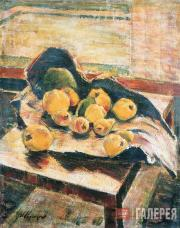 Zagrekov Nikolai. Fruit on a Table in a Torn Paper Bag. 1949