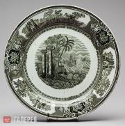 """Plate with """"Acropolis"""" Pattern"""