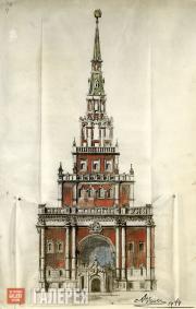 Щусев Алексей. Проект Главной башни Казанского вокзала (вестибюля 1−2-го классов