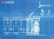Щусев Алексей. Проект Казанского вокзала. Фрагмент фасада со стороны Рязанского