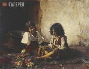 Alexei KHARLAMOV. Italian children. 1877