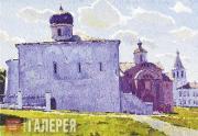 Vladimir STOZHAROV. Novgorod. The Yaroslav Courthouse. 1972