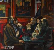 Ivanov Viktor. At the Caffè Greco. 1974