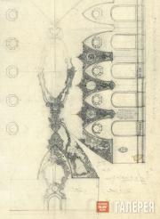 Щусев Алексей. Проект интерьера ресторана Казанского вокзала. Вариант. 1915–1916