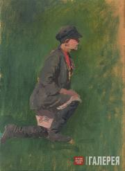 """Korin Alexei. A Boy. Study for the painting """"The Sick Artist"""". 1890"""
