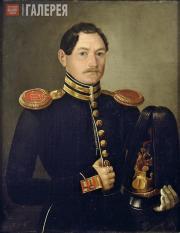 M.A.TIKHEEV. Portrait of a First Lieutenant of Naval Artillery Corps Alexander A