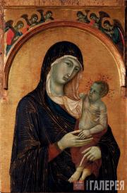 Duccio di Buoninsegna.  The Virgin with Child and Six Angels, 1300-1305