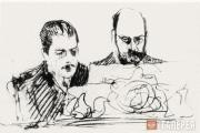 """Serov Valentin. """"A Piece of Music for Four Hands"""". Serge Diaghilev and Ilya Ostr"""