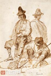 Отдыхающие путники. Около 1835