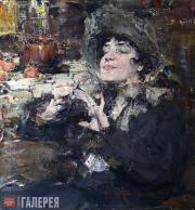 Fechin Nikolai. Lady Doing Her Nails. Portrait of Mlle Girmonde. 1927