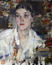 Fechin Nikolai. Portrait of Alexandra Fechina. 1927-1933