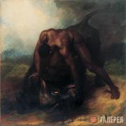 Dawe George. A Negro Overpowering a Buffalo – a fact which occurred in America i