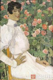 Golovin Alexander. A Spanish Woman in White. 1906-1907