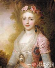 Fedor Bognevsky. A Portrait of Grand Duchess Alexandra Pavlovna. 1797