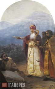 Aivazovskiy Ivan. Sanctification of the Foundation Stone by Gregory the Illumina