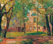 Isupov Alexei. Old Moscow. Neskuchny Garden. 1918