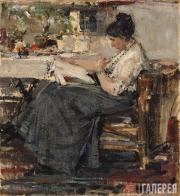 Fechin Nikolai. Sketch for the Portrait of Nadezhda Sapozhnikova. 1915