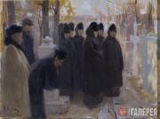 Korin Alexei. Requiem for Illarion Pryanishnikov. 1900