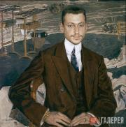 Golovin Alexander. Portrait of Count Vladimir Kankrin. 1909