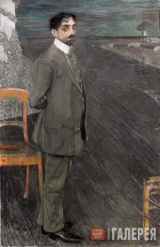 Golovin Alexander. Portrait of Mikhail Kuzmin. 1910